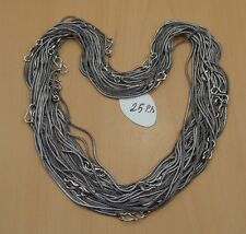 WHOLESALE 25PC 925 SILVER PLATED BLACK OXIDIZED CHAIN NECKLACE JEWELRY LOT-20L