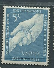 UNITED NATIONS unused Scott 5 UN Children's Fund OG H