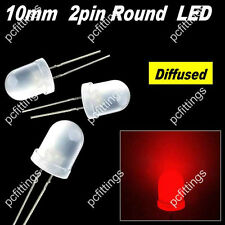 200P X 10mm red Round Diffused LED 10mm red Diffused LED light 9k MCD  red light