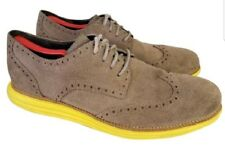 COLE HAAN LUNARGRAND SHOES WINGTIP SUEDE GRAY GREEN 13 OXFORDS