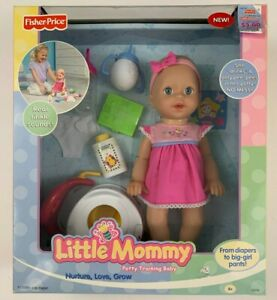 Fisher-Price Little Mommy Potty Training Doll She Drinks & Only Pees In Potty