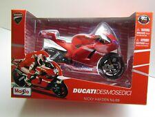 Maisto 1:10 Scale Diecast Nicky Hayden # 69 Ducati GP10 2010 Moto GP Model - New