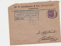germany 1920s bahnpost railway stamps cover ref 18654