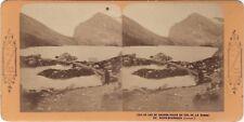 Suisse Lac de Dauben Suisse Photo Stereo Vintage Albumine ca 1870