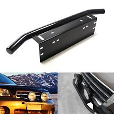 Bull Bar Style Front Bumper License Plate Mounting Bracket Holder OffRoad Lights