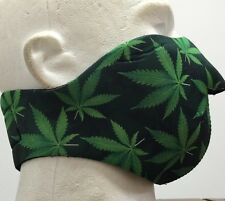 Marijuana Pot Leaf Neoprene Half Ski Mask Reversible Snowboard Biker Face Mask