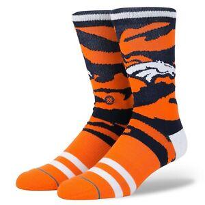 Stance NFL Denver Broncos Crew Socks, Men's Shoe Size 9-12, L, Gift, B24