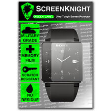 ScreenKnight Sony Smart Watch 2 SW2 SCREEN PROTECTOR invisible military shield