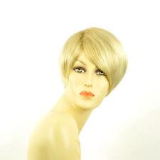 Perruque femme courte blond doré méché blond très clair  ALEXANDRA 24BT613