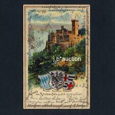 Koblenz BURG STOLZENFELS Castle / Wappen * AK um 1900 Präge-Litho
