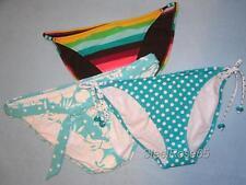 NEW 3 Lot Aeropostale Bikini SwimSuit Bottoms Teal White Multi Colored Stripes L