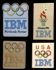 Olympic Sponsor Pin Badge Set~Lot of 4 ~ IBM ~ Collection