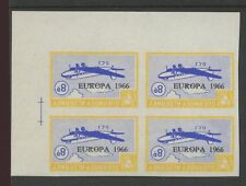 Guernsey, ALDERNEY 1966 Europa 8D invertiti Imperf blocco