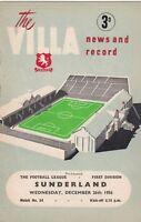 Aston Villa v Sunderland 1956/7 (26 Dec)