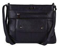 Lorenz Black Nappa Leather Cross Body Messenger Style Bag