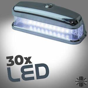 30 LED Rear Number plate lamp Chrome ABS for Land Rover Defender 90 100 light
