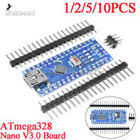 1/2/5/10PCS Nano V3.0 USB ATmega328 16MHz 5V Micro-Controller CH340G for Arduino