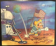 Lesotho- Disney Mickey Visits the Moon- Souvenir Sheet