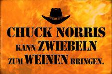Chuck Norris Spruch 27 Blechschild Schild gewölbt Metal Tin Sign 20 x 30 cm