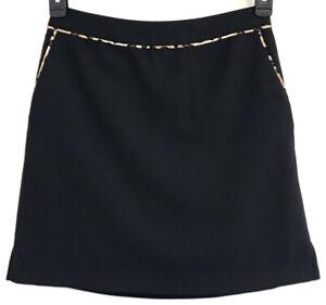 EP PRO Golf Skort Women Sz 2 Black Side Zipper Polyester