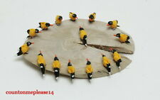 Miniatures Willow Goldfinch Bird white clay Handmade Decorative 1:12 approx.