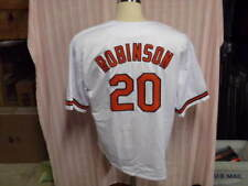 b277a04c7fa FRANK ROBINSON UNSIGNED T B WHITE BALTIMORE ORIOLES JERSEY HOF 82