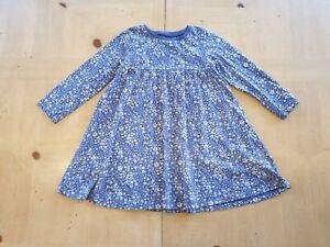 NEXT Girl's Purple Floral Long Sleeve Dress Size 18 - 24 Months