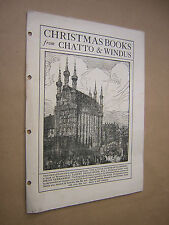 CHRISTMAS BOOKS FROM CHATTO & WINDUS. 1915 CATALOGUE. BROCHURE. ADVERTISING