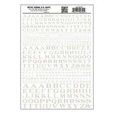 Letters Dry Transfer Sheet, Roman RR White Dt - Woodland Scenics MG702