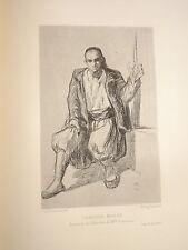 E. FROMENTIN 1820-1876 GRAVURE ORIENTALISTE PORTRAIT HOMME MAURE ALGERIE 1880