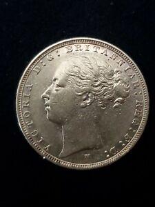 Australia 1884 M Gold Sovereign AU Melbourne Mint Victoria St. George