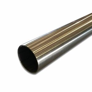 """304 Stainless Steel Round Tube, 1-1/4"""" OD x 0.365"""" Wall x 72"""" long, Polished"""