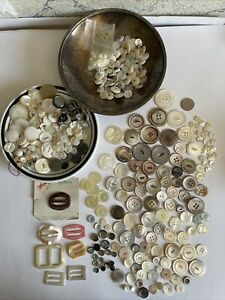 Vintage Varity Mother Of Pearl Button Lot