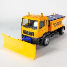 DSM 1:64 Die-Cast MAN Snow Plow Dump Truck Orange Color Model Collection New