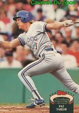 333  PAT TABLER  TORONTO BLUE JAYS TOPPS BASEBALL CARD STADIUM CLUB 1992