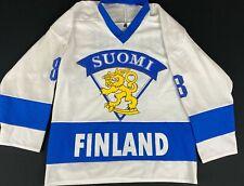 Teemu Selanne #8 Finland Suomi Vintage Ice Hockey Jersey Men's Size S Ana. Ducks