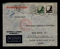 Germany May 26 1935 Airmail To Brazil / Light Fold - L17408