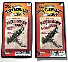 2 RATTLESNAKE EGGS JOKE Envelope Fake Snake Packs Trick Prank Gag Gift Toy Funny