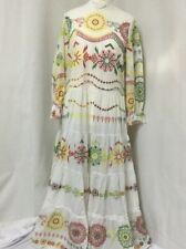 ZARA OYSTER WHITE LONG EMBROIDERED DRESS SIZE SMALL BNWT TRINNY