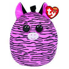 Ty UK Ltd 39194 Zoey Zebra Squish a Boo Plush Toy Multicoloured 12