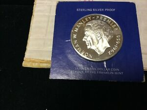 1973 PROOF JAMAICA $5.00 STERLING SILVER STRUCK BY THE FRANKLIN MINT