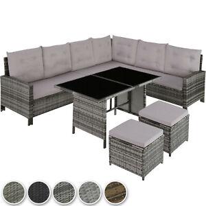 XXL Polyrattan Sitzgruppe Lounge Set Eck Sofa Gartenmöbel Garten Garnitur Möbel