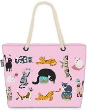 Katzenbande rosa Beach Bag Katze Kätzchen Tier Haustier Kartäuser Scottish grau