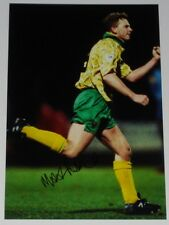 MARK ROBINS NORWICH CITY PERSONALLY HAND SIGNED AUTOGRAPH 12X8 PHOTO