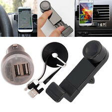 3in1 Car Air Vent Kit Mount Holder+Charger+Cable For Samsung Galaxy S5 / Note 3