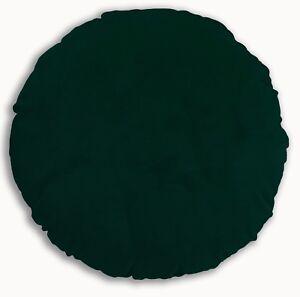 Mf42n Green Plain Thick Microfiber Velvet Round Shape Cushion Cover Custom Size
