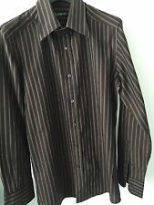 Dolce&Gabbana Men's Fitted Striped Casual Shirts & Tops