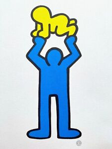 """KEITH HARING ESTATE RARE 1992 POP ART OFFSET LITHOGRAPH PRINT """" RADIANT BABY """""""