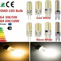 G4 G9 3W 5W 6W 10W Cool/Warm White LED Light Replace Halogen Lamp Bulb 12V/240V