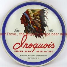 1940s Buffalo New York Iroquois Indian Head Beer & Ale 12 inch Tavern Trove